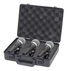 Samson Q6 3-Pack komplet treh mikrofonov v kovčku