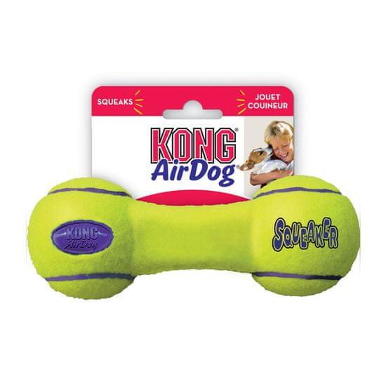 KONG AirDog Squeaker Dumbbell igrača za pse, kost, M, rumena