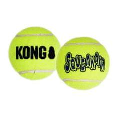 KONG SqueakAir žoga za pse, L, rumena, 2 kos