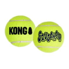 KONG SqueakAir žoga za pse, M, rumena, 3 kos