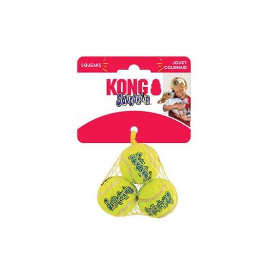KONG SqueakAir žoga za pse, XS, rumena, 3 kos