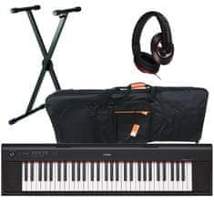 Klávesy Yamaha NP 12 s povlakem, stojanem a sluchátky
