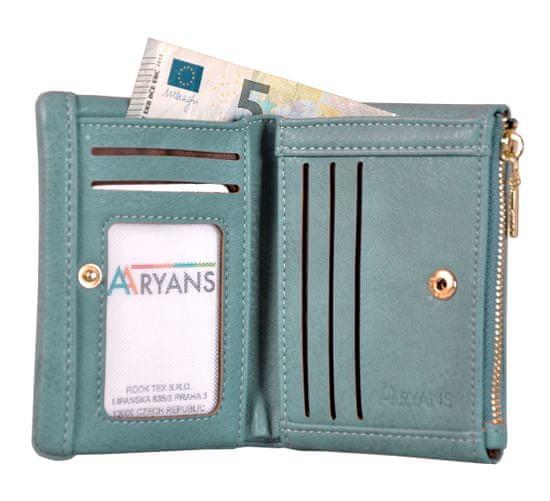 Aaryans Dámská peněženka PT19-1384 tyrkysová
