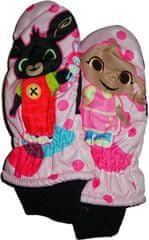SETINO Dívčí palcové rukavice s králíčkem Bingem. Vel:3-4