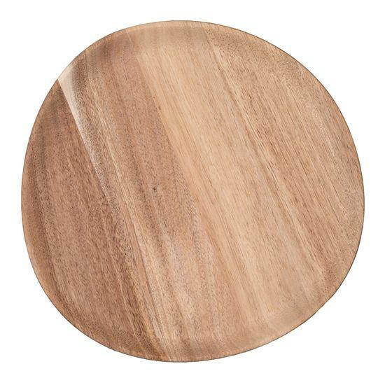 Decor By Glassor Servírovací dřevěný talíř velký