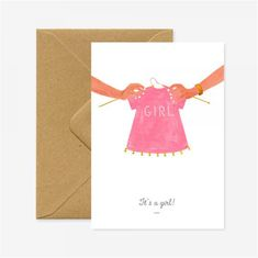 Decor By Glassor Dárkové přání k narození dítěte It´s a girl!