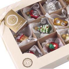 Decor By Glassor Set 12 mini ozdob Kouzlo Vánoc