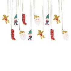 Decor By Glassor Vánoční jmenovky na dárky