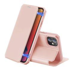 Dux Ducis Skin X knjižni usnje ovitek za iPhone 12 / 12 Pro, roza