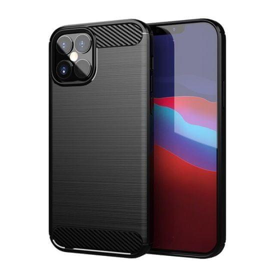MG Carbon Case Flexible szilikon tok iPhone 12 mini, fekete