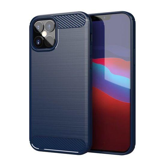 MG Carbon Case Flexible silikonski ovitek za iPhone 12 / 12 Pro, modro