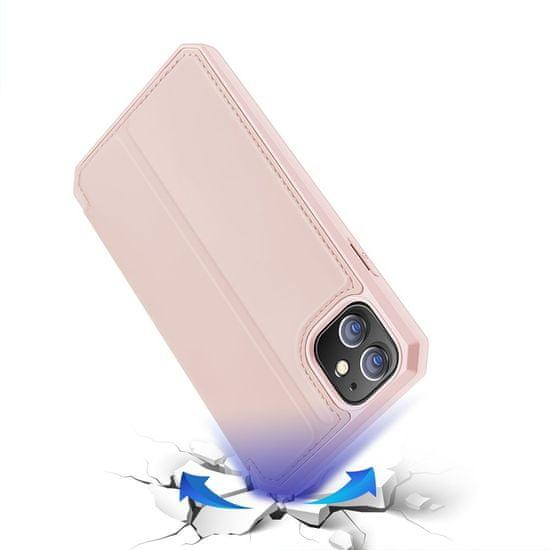 Dux Ducis Skin X knjižni usnjeni ovitek za iPhone 12 mini, roza