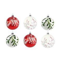 Decor By Glassor Set skleněných ručně malovaných ozdob v moderních barvách Kouzelné Vánoce