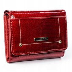 Lorenti Menší dámská kožená peněženka Croco redish, červená