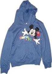 Disney Chlapecká modrá mikina s myšákem Mickey. Vel:116