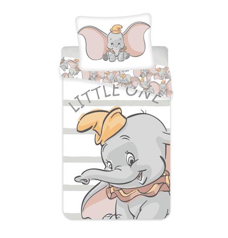 Jerry Fabrics Povlečení Dumbo šedé pásky