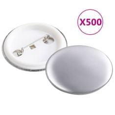 shumee Komponenty na výrobu odznakov 500 sád, 37 mm