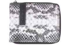 B.Cavalli Pánská moderní kožená peněženka z pravé kůže B.Cavalli - čenobílá