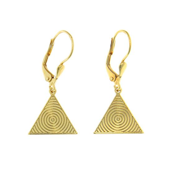 Praqia Aranyozott ezüst fülbevalók Háromszög NA6244