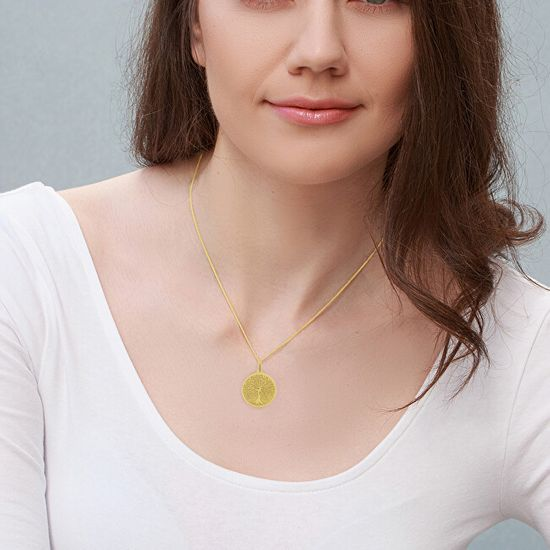 Praqia Aranyozott nyaklánc Életfa KO6248_CU040_45_A (lánc, medál) ezüst 925/1000