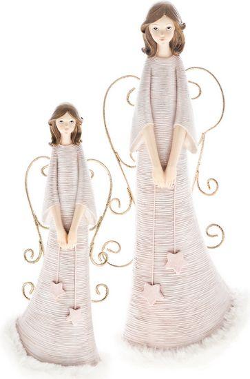 DARKA Anděl růžový se závěsnými křídly 201178