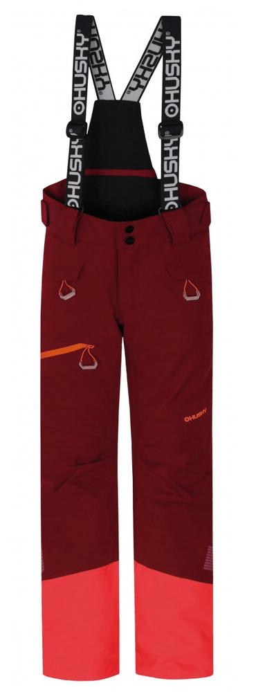Husky dívčí lyžařské kalhoty Ski Kids Gilep 134 vínová