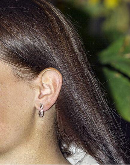Beneto Okrogli srebrni uhani AGU1201