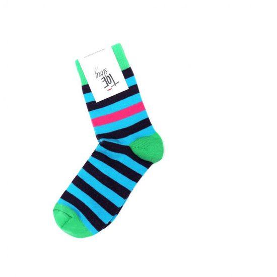 Toe Story Peckózní modro-fialové ponožky Rocker Toe