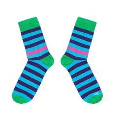 Toe Story Peckózní modro-fialové ponožky Rocker Toe, 40 - 42