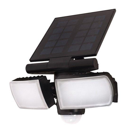 Solight LED solární osvětlení se senzorem, 8 W, 600 lm, Li-on, černá