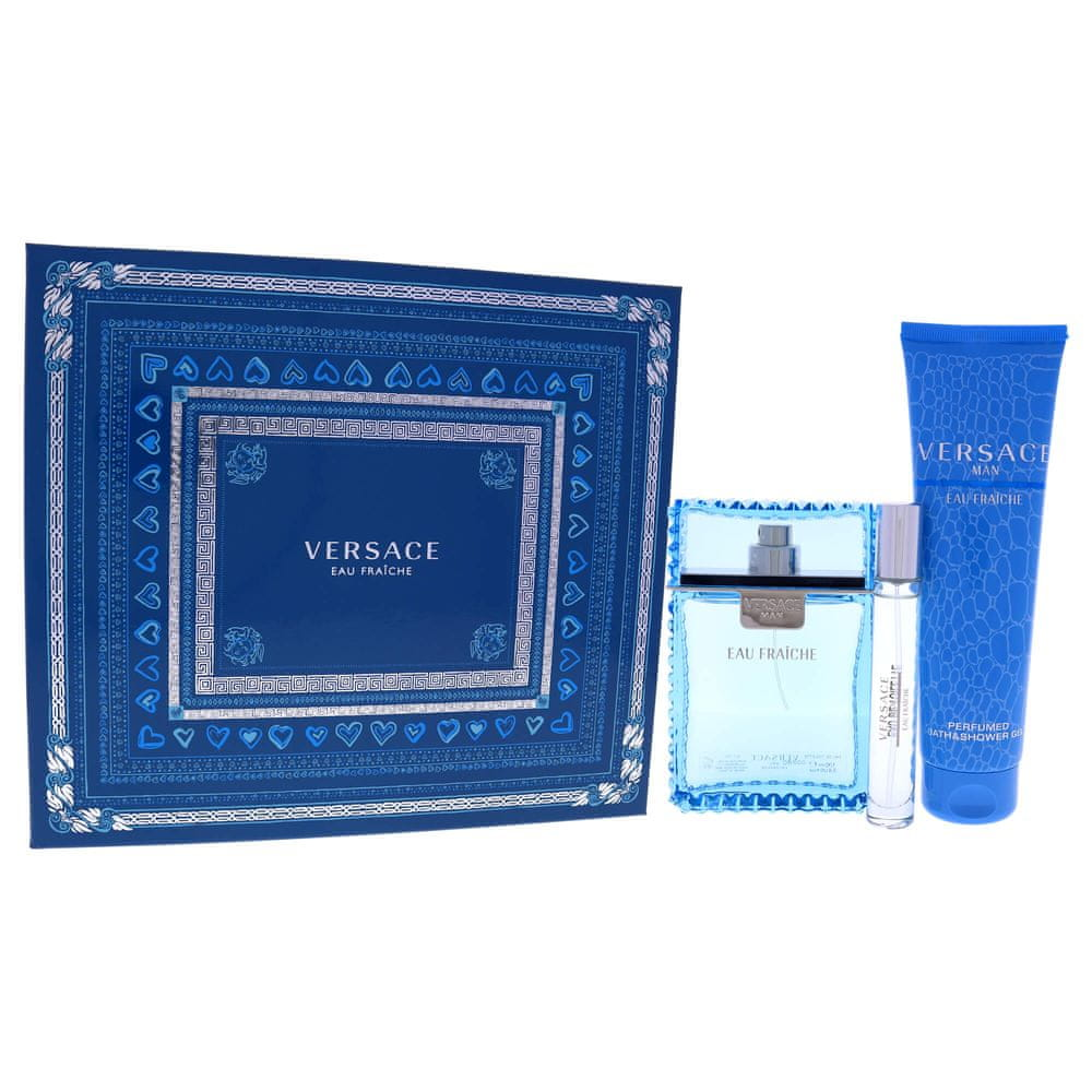 Versace Eau Fraiche Man - EDT 100 ml + sprchový gel 150 ml + EDT 10 ml