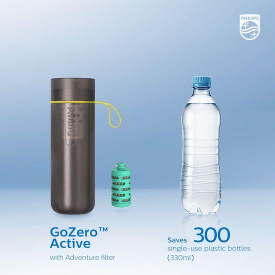 Philips Adventure filtračná fľaša AWP2722GRR/10, sivá
