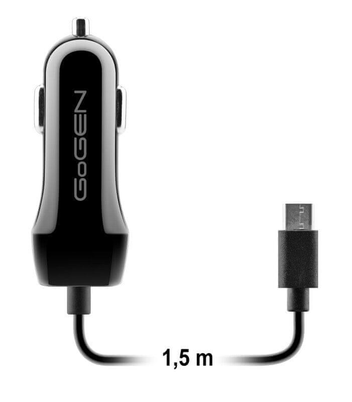GoGEN Autonabíječka USB + kabel USB-C CH 28 CCB