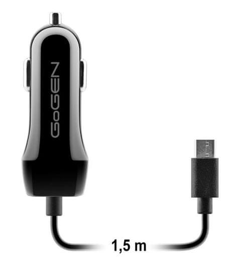 GoGEN ładowarka samochodowa USB + przewód USB-C CH 28 CCB
