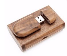 CTRL+C Owalny drewniany pendrive + pudelko ORZECH, 32 GB, USB 2.0