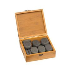 Marco Schreier Hot Stones - sada v bambusové krabičce, 18 ks