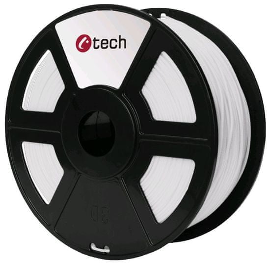 C-Tech Nyomtatószál, PLA, 1,75mm, 1kg, fehér (3DF-PLA1.75-W)