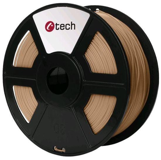 C-Tech Nyomtatószál, PLA, 1,75mm, 1kg, fa (3DF-PLA1.75-WD)