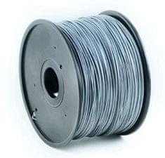 Gembird tisková struna, ABS, 1,75mm, 1kg, stříbrná (3DP-ABS1.75-01-S)