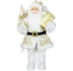 Dům Vánoc Santa ve zlatém kabátku 45 cm