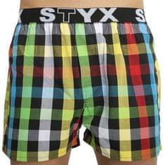 Styx Pánské trenky sportovní guma vícebarevné (B828) - velikost XL