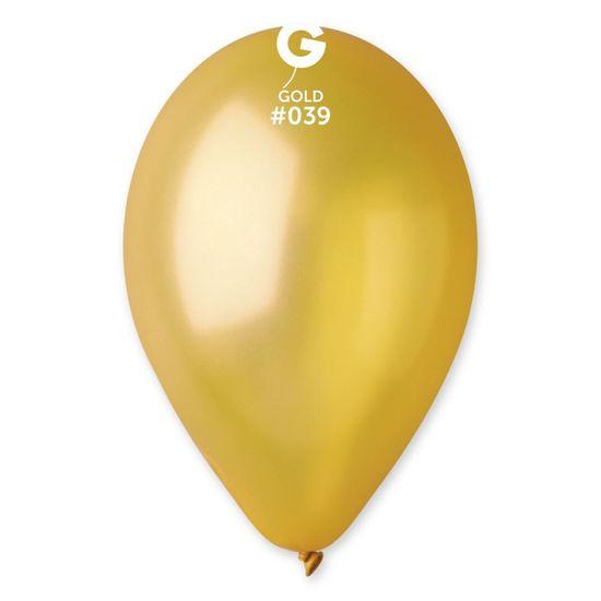 Gemar latexové balónky - metalické - zlaté - 100 ks - 26 cm