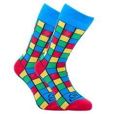 Styx Veselé ponožky vysoké art kostky (H959) - velikost S