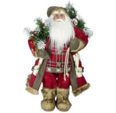 Dům Vánoc Santa v dlouhém kabátku 60 cm