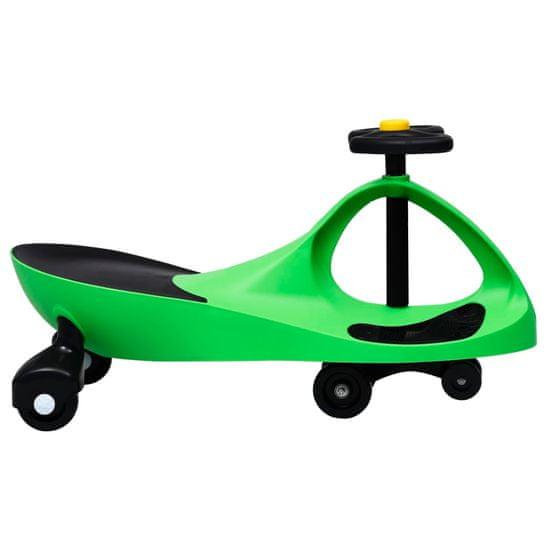 shumee Otroški vrtljiv avtomobil s hupo zelene barve