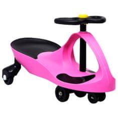 shumee Otroški vrtljiv avtomobil s hupo roza barve