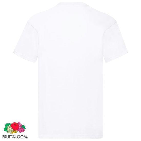 shumee Fruit of the Loom Originalne majice 10 kosov bele 5XL bombaž