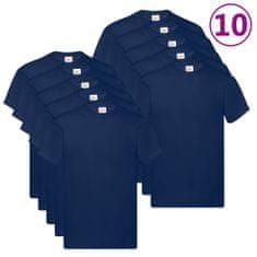shumee Fruit of the Loom Originalne majice 10 kos. mornarsko modre XXL bombaž