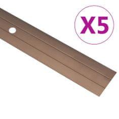 shumee Talni profili 5 kosov aluminij 100 cm rjavi