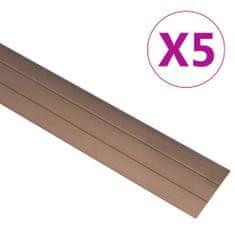 shumee Talni profili 5 kosov aluminij 90 cm rjavi